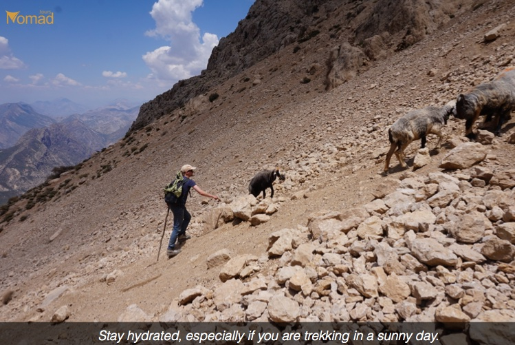 Hydrated in Trekking Iran