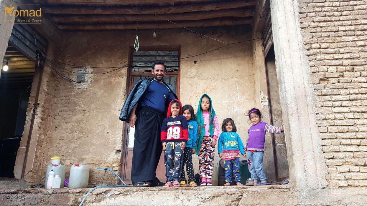 Kids in the village in Iran