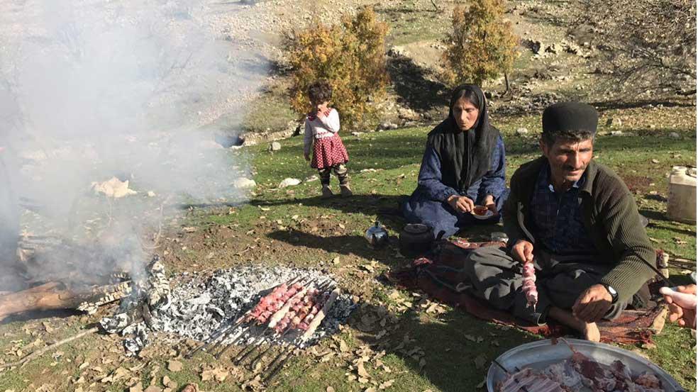 Bakhtiari Nomad Family