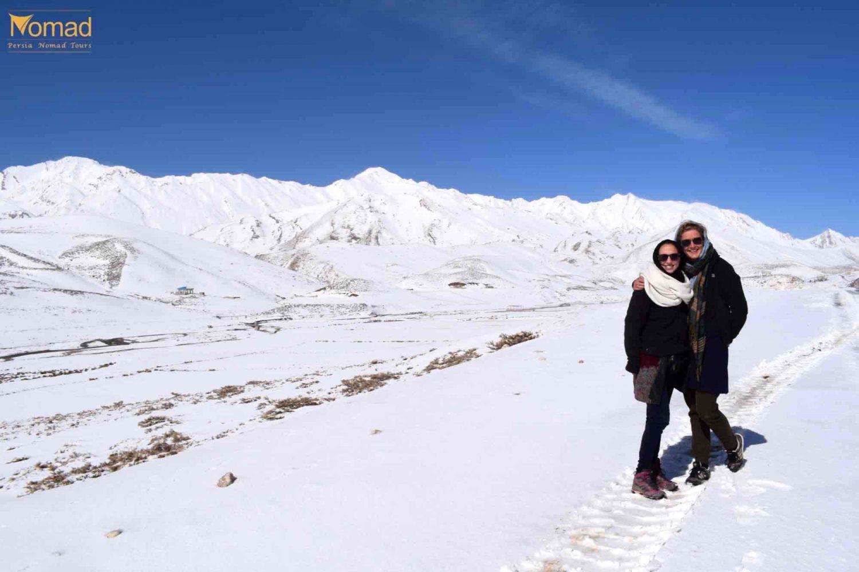 snowy zagros mountains