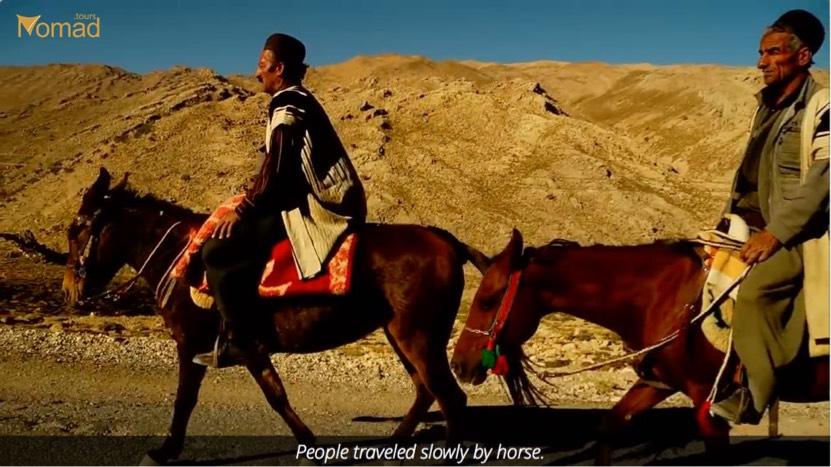 Bakhtiari Nomads traveling by horse