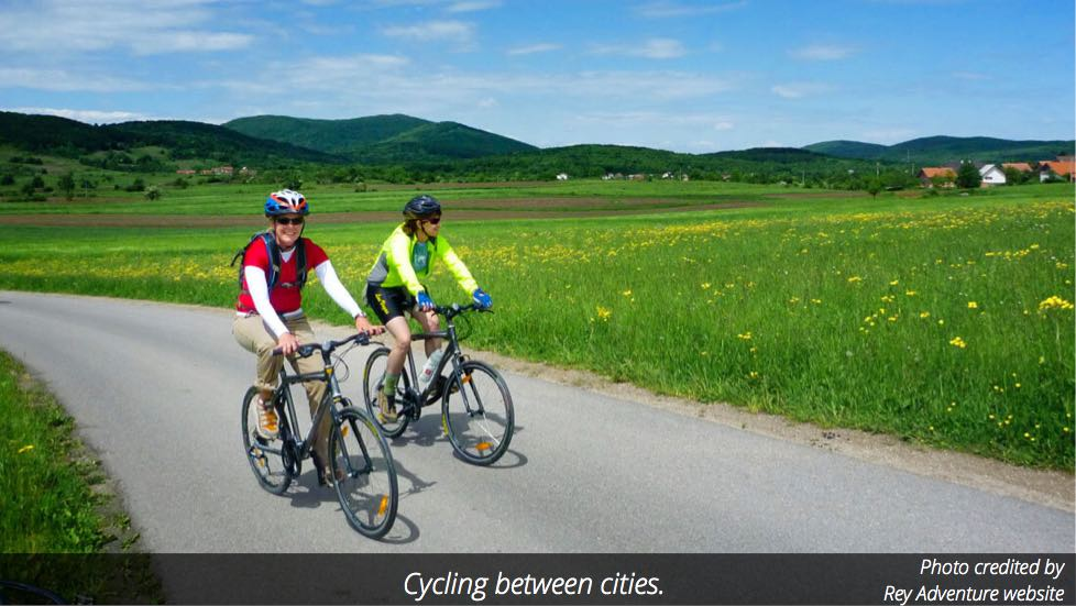 Cycling between cities