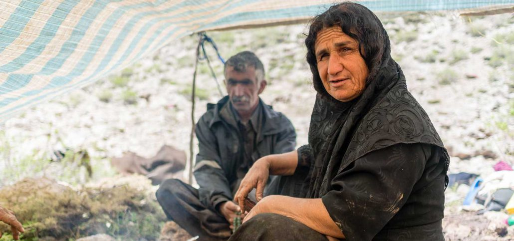Bakhtiari nomads under tent -Iran
