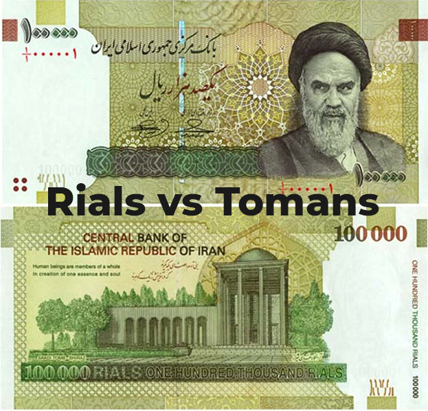 Tips for tourists in Iran - Rial & Toman
