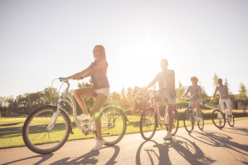 cycling as a wellness activity