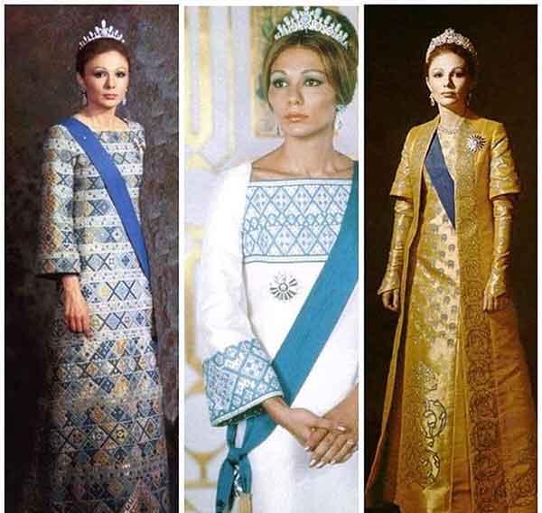needlework on Farah Pahlavi's costumes