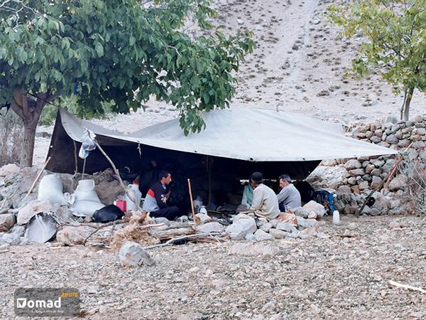 tent of bakhtiari nomad