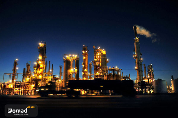 A petrochemical industrial area in Khuzestan