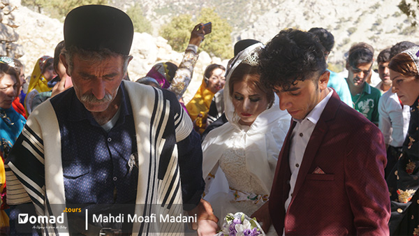 bride and groom of nomadic bakhtiari tribe in iran
