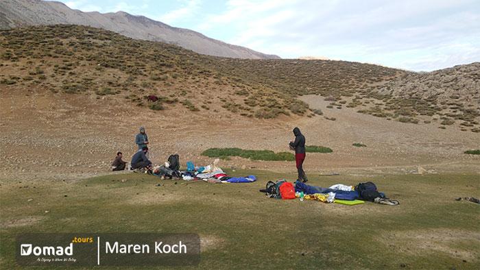 during koch of bakhtiari nomads