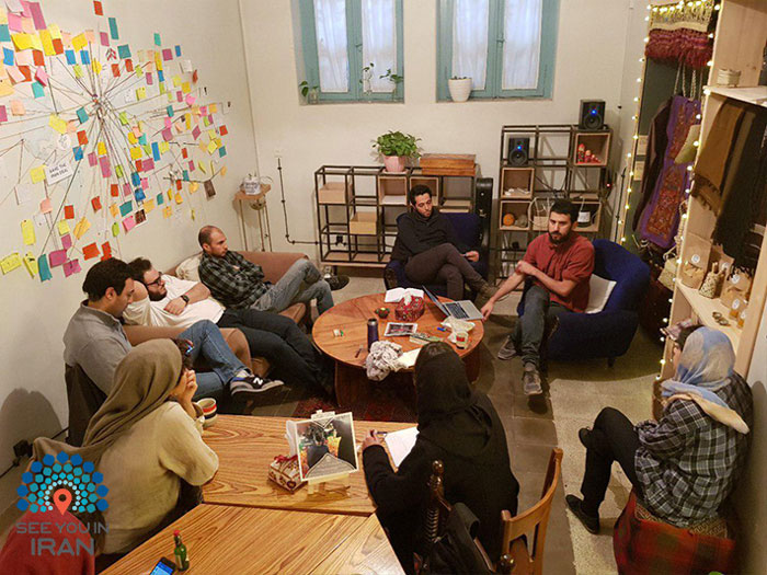 gathering in see you in iran hostel