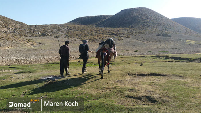 trekking in bakhtiari lands -zagros mountain ranges in iran