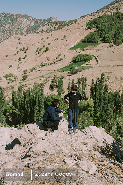 Bakhtiari boys in Zagros mountains