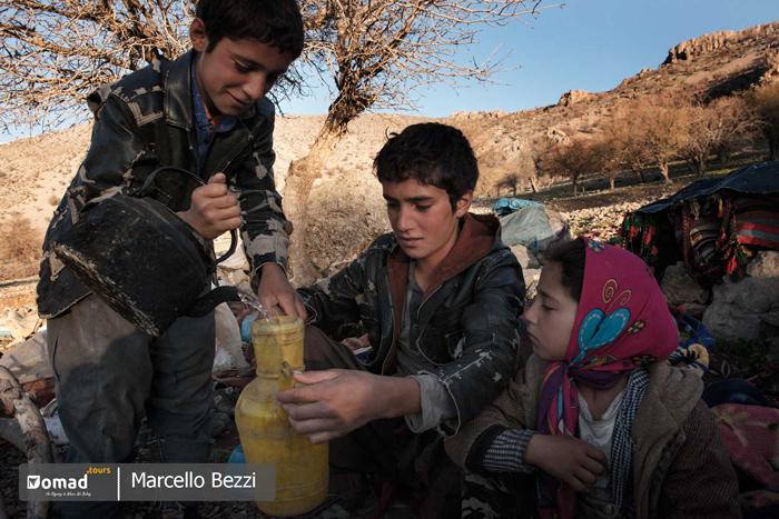 children of iranian nomads