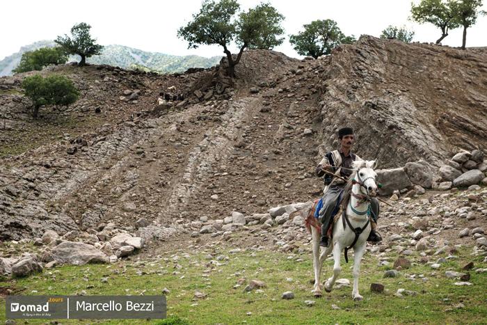 horse riding in bakhtiari nomads land