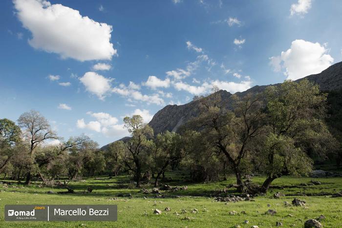 beautiful scenery of bakhtiari lands in Iran