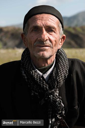 Iranian nomadic man in bakhtiari lands