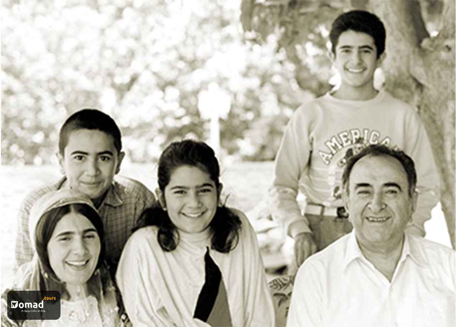 Mohammad Bahmanbeigi and his family