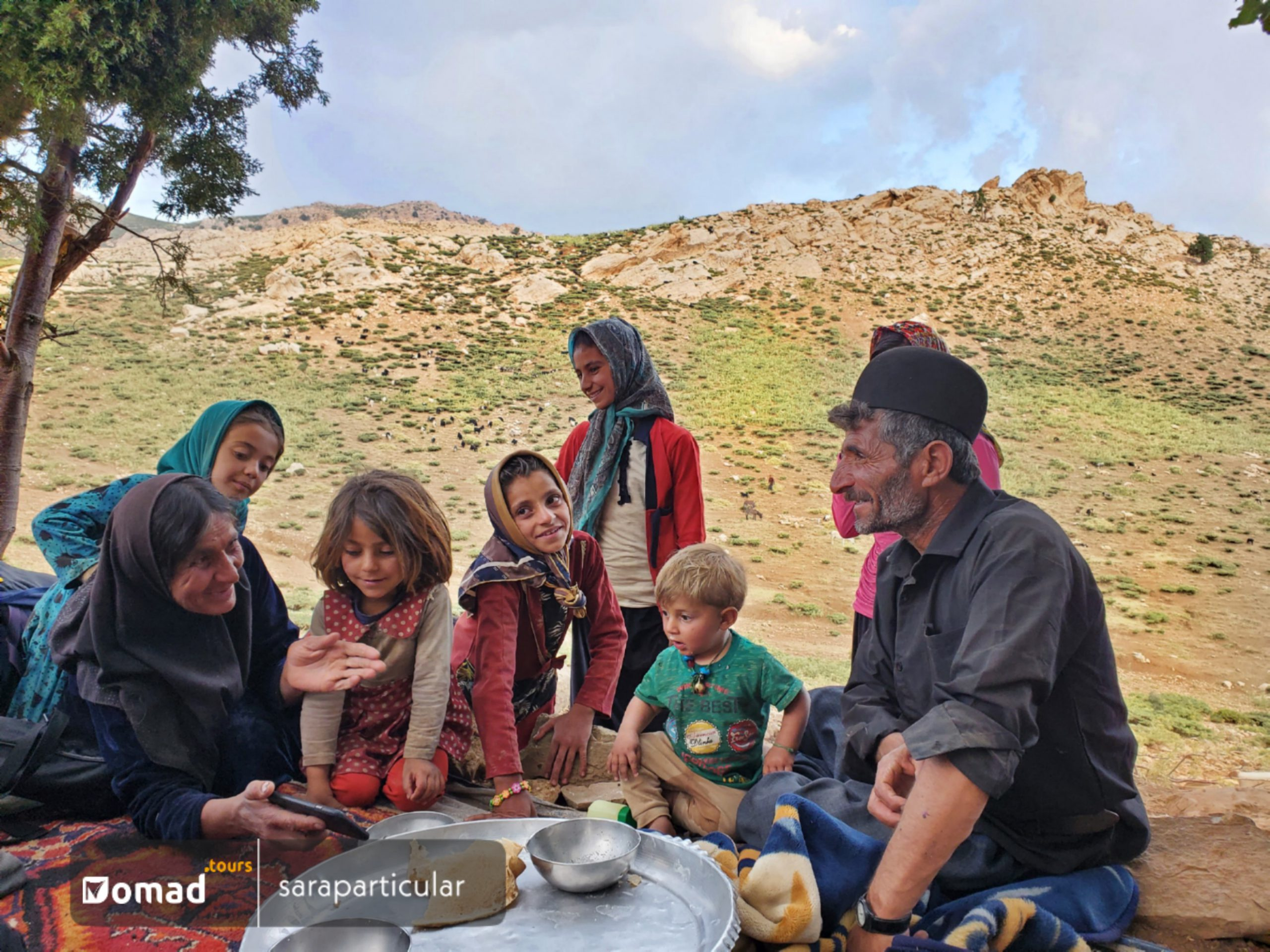 A Bakhtiari Nomad Family in their summer pasture
